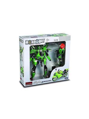 Робот Galaxy Defender мотоцикл kawasaki 1:10 Happy Well. Цвет: зеленый