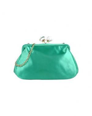 Средняя сумка из текстиля PAPÀ RAZZI. Цвет: зеленый