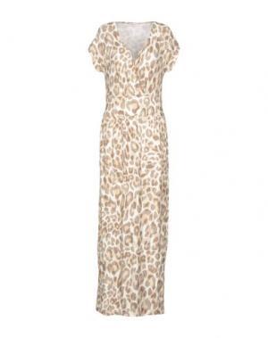 Длинное платье ANNA RACHELE RESORT. Цвет: бежевый
