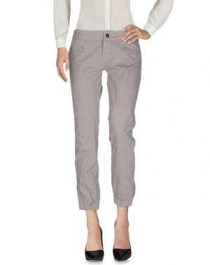 Повседневные брюки JEI O'. Цвет: голубиный серый