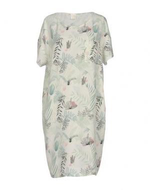 Платье до колена DES PETITS HAUTS. Цвет: светло-зеленый