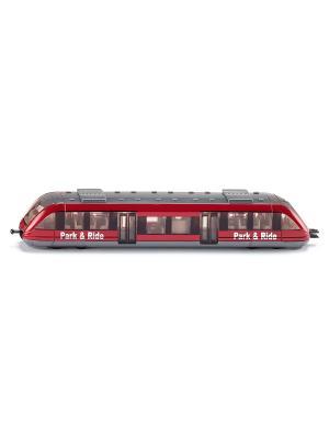 Пригородный поезд SIKU. Цвет: темно-красный, бордовый, красный