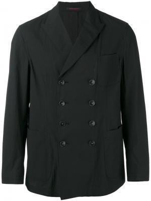 Двубортный пиджак The Gigi. Цвет: чёрный