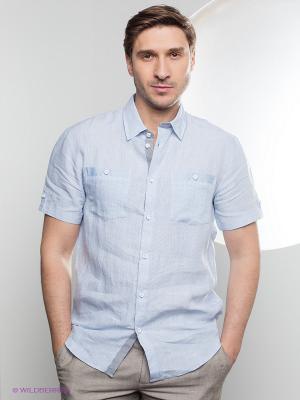 Рубашка Gregory. Цвет: голубой