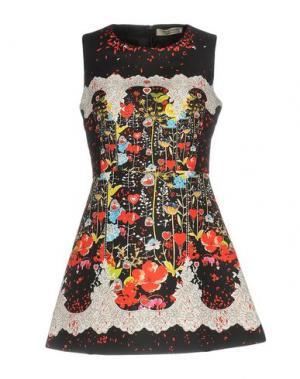 Короткое платье PICCIONE•PICCIONE. Цвет: черный