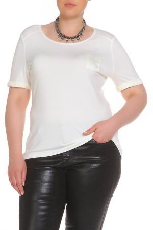 Блуза LAVELLE. Цвет: кремовый