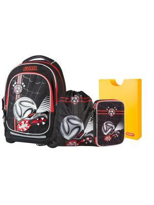 Рюкзак супер лёгкий Чемпион по футболу (черный) 4 в 1 Target. Цвет: черный