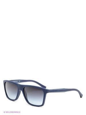 Очки солнцезащитные Emporio Armani. Цвет: темно-синий