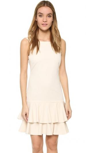 Платье с оборками и заниженной талией ST Olcay Gulsen. Цвет: коричневый