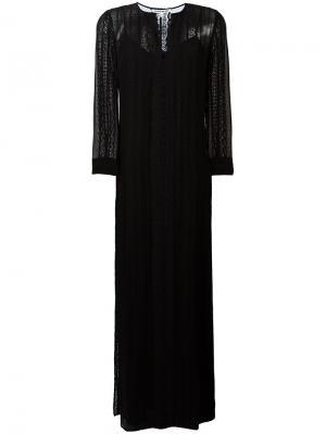 Длинное платье с кружевными вставками Elizabeth And James. Цвет: чёрный
