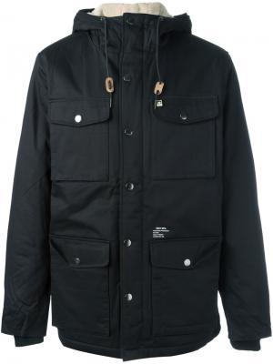 Куртка с капюшоном Obey. Цвет: чёрный