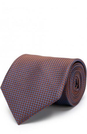 Шелковый галстук Brioni. Цвет: коричневый