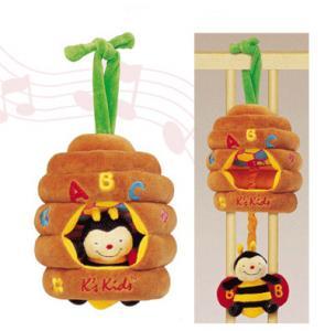 Музыкальная пчелка K'S Kids. Цвет: оранжевый, салатовый