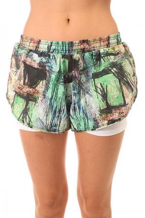 Шорты пляжные женские  Tafetб Shorts Multi CajuBrasil. Цвет: мультиколор