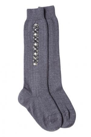 Носки с декором No.21. Цвет: серый