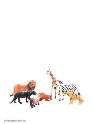 Игровой набор Дикие животные Happy Kin. Цвет: черный, зеленый, коричневый, белый