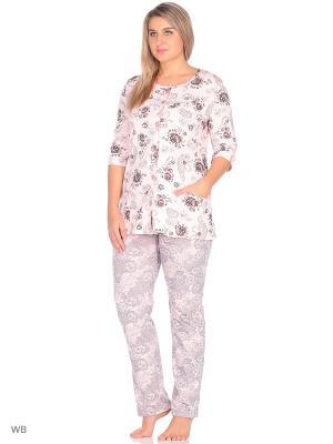 Пижама El Fa Mei. Цвет: серый, розовый