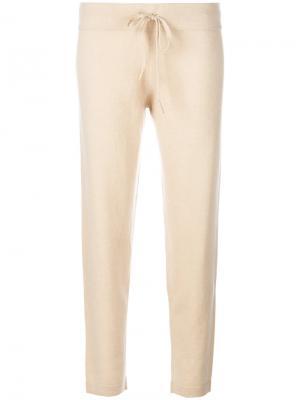 Укороченные брюки Sarah Cashmere In Love. Цвет: телесный