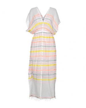 Длинное платье LEMLEM. Цвет: лососево-розовый