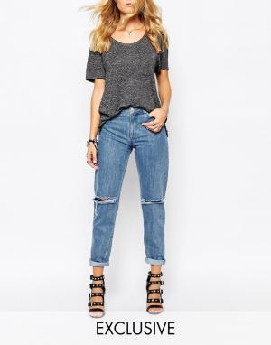 Northmore Denim Oversize-джинсы бойфренда с отворотами и рваными коленками D