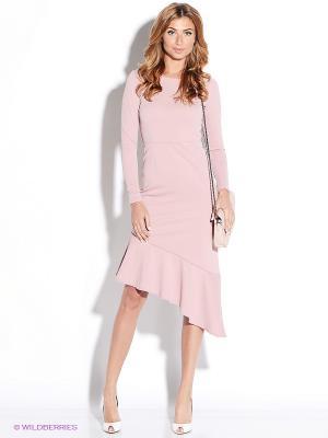 Платье TuttoBene. Цвет: бледно-розовый
