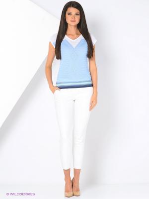 Джемпер Milana Style. Цвет: голубой