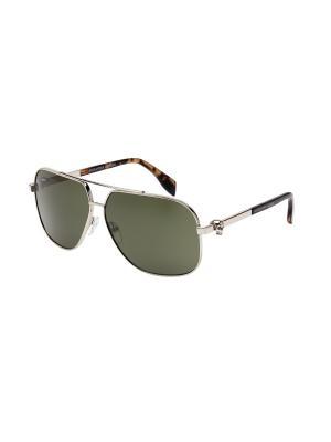Солнцезащитные очки Alexander McQueen. Цвет: серебристый