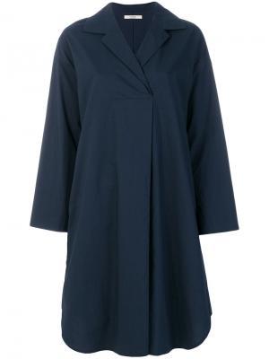 Платье-рубашка свободного кроя Odeeh. Цвет: синий