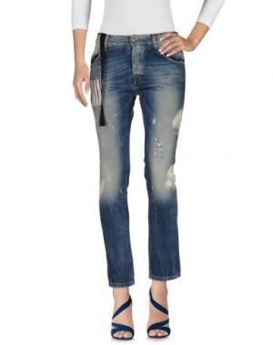 Джинсовые брюки MAURIZIO MASSIMINO. Цвет: синий