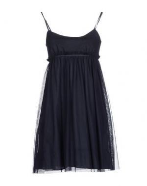 Короткое платье GAZEL. Цвет: темно-синий