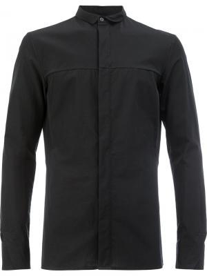 Узкая рубашка с потайной застежкой Masnada. Цвет: чёрный
