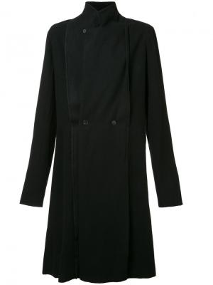 Двубортное пальто Ma+. Цвет: чёрный