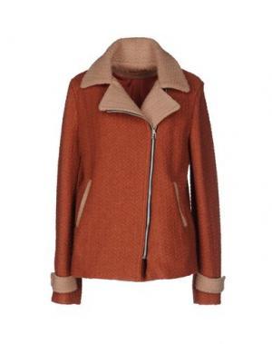 Куртка BONSUI. Цвет: коричневый