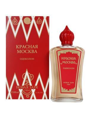 Одеколон - Красная москва в футляре 100 мл Новая Заря. Цвет: красный