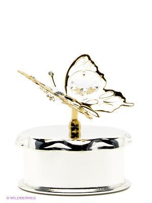 Шкатулка Бабочка Юнион. Цвет: золотистый, серебристый
