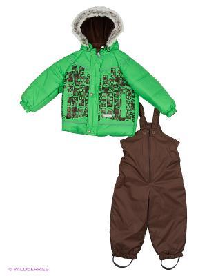 Комплект одежды Kerry. Цвет: зеленый, коричневый