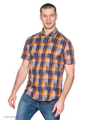 Рубашка Finn Flare. Цвет: темно-синий, желтый