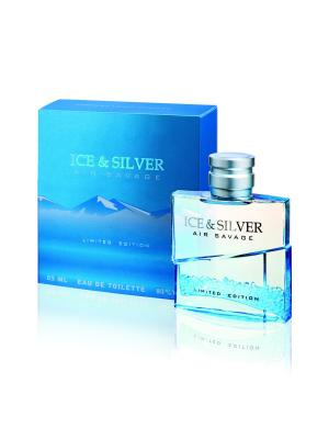 Т/в Ice&Silver Air Savage 85 мл муж Parfums Louis Armand. Цвет: голубой