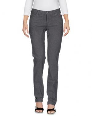 Джинсовые брюки ROŸ ROGER'S. Цвет: серый