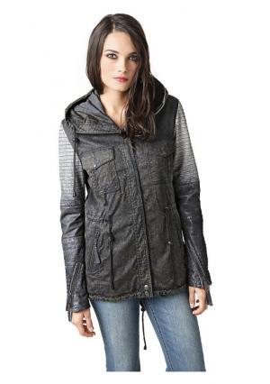 Куртка-парка Mandarin. Цвет: темно-серый