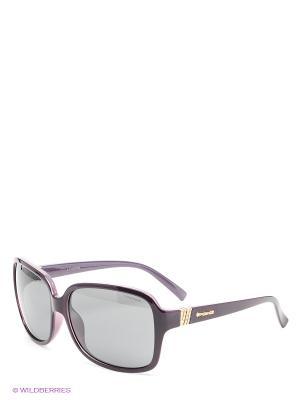 Солнцезащитные очки Polaroid. Цвет: фиолетовый, черный