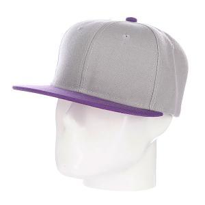 Бейсболка True Spin Tone Blank Snapback Kings TrueSpin. Цвет: серый,фиолетовый