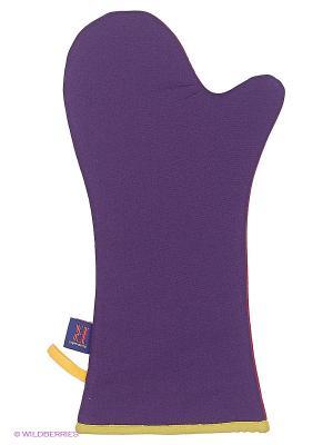 Длинная перчатка (серия Квадраты) Dexam. Цвет: красный