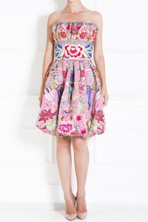 Шелковое платье Naeem Khan #2. Цвет: разноцветный
