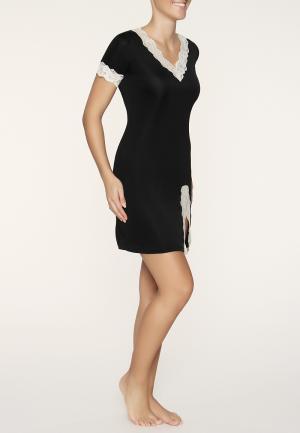 - Tahiti Ночная рубашка Черный/кремовый Gattina