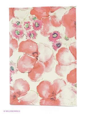 Обложка для автодокументов Красные маки Mitya Veselkov. Цвет: коралловый, молочный, розовый
