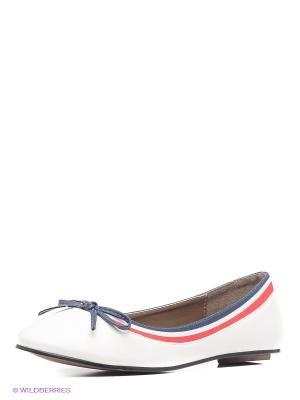 Балетки U.S. Polo Assn.. Цвет: белый