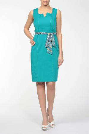Платье Fusion. Цвет: голубой