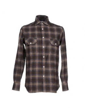 Pубашка ALAIN FRACASSÍ. Цвет: темно-коричневый