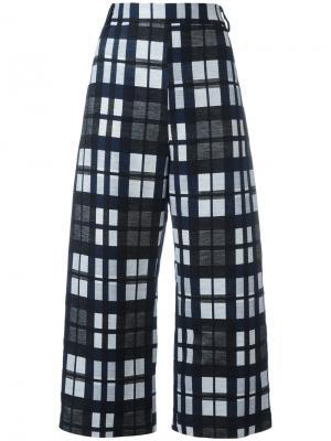 Укороченные брюки в клетку Ter Et Bantine. Цвет: чёрный
